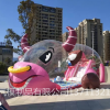 充气透明水晶宫定制充气透明猪猪岛乐园批发充气景区泡泡屋